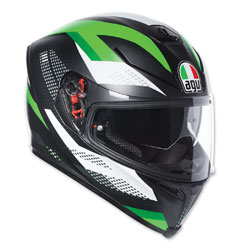 AGV K-5 S Marble Black/White/Green Full Face Helmet