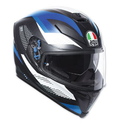 AGV K-5 S Marble Black/White/Blue Full Face Helmet