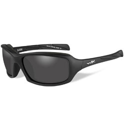 Wiley X Sleek Matte Black Sunglasses with Smoke Lens
