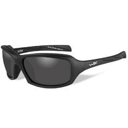 Wiley X Sleek Matte Black Sunglasses with Smoke Lens