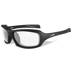 Wiley X Sleek Matte Black Sunglasses with Clear Lens