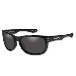 Wiley X Hudson Gloss Black Sunglasses with Smoke Lens