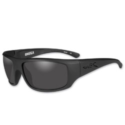 Wiley X Omega Matte Black Sunglasses with Smoke Lens