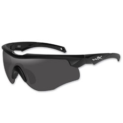 Wiley X Rogue Matte Black Frame Sunglasses with Smoke and Clear Lens