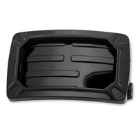 Kuryakyn Nova Black Horizontal Side Mount License Plate Frame