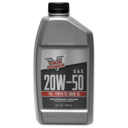 Twin Power Synthetic Engine Oil 20W50 Quart