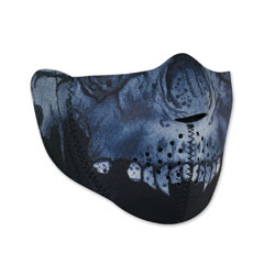 ZAN headgear Modi-Face Neoprene Midnight Skull Half Mask