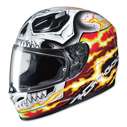 HJC FG-17 Ghost Rider Red/White Full Face Helmet