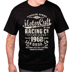 MotorCult Men's Vintage Black T-Shirt