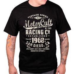 MotorCult Men's Vintage Black T-Shirt