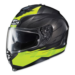 HJC IS-17 Tario Hi-Viz/Black Full Face Helmet