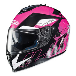 HJC IS-17 Blur Black/Pink Full Face Helmet