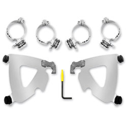 Memphis Shades Polished Trigger-Lock Mount Kit for Road Warrior Fairing