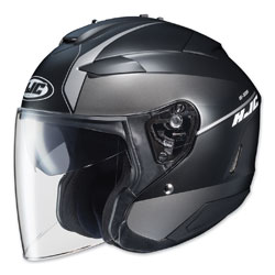 HJC IS-33 II Niro Black/Gray Open Face Helmet