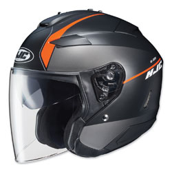 HJC IS-33 II Niro Black/Orange Open Face Helmet