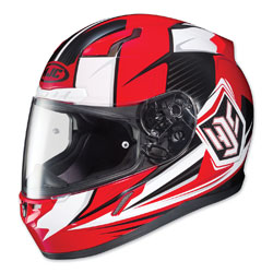 HJC CL-17 Striker Red/White Full Face Helmet