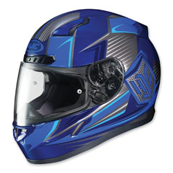 HJC CL-17 Striker Blue/Gray Full Face Helmet