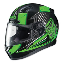 HJC CL-17 Striker Neon Green/Black Full Face Helmet