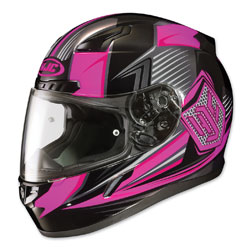 HJC CL-17 Striker Black/Pink Full Face Helmet