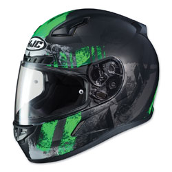 HJC CL-17 Arica Neon Green/Black Full Face Helmet