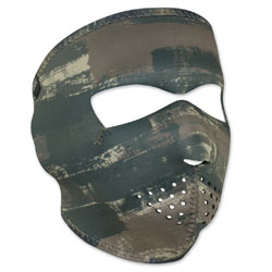 ZAN headgear Neoprene Dark Brushed Camo Full Mask