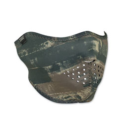 ZAN headgear Neoprene Dark Brushed Camo Half Mask