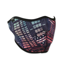 ZAN headgear Neoprene Neon Circuit Half Mask