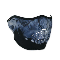 ZAN headgear Neoprene Midnight Skull Half Mask
