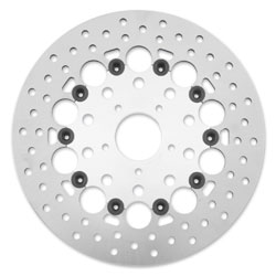 Twin Power Front Silver Floating Round Hole Brake Rotors