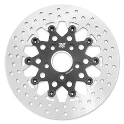 Twin Power Rear Black Floating Mesh Style Brake Rotors