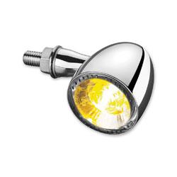 Kuryakyn Chrome Bullet 1000 White/Amber Turn Signal