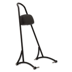 Burly Brand Black Tall Sissy Bar With Pad