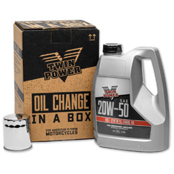 Twin Power Synthetic Quick Change Oil Change Kit