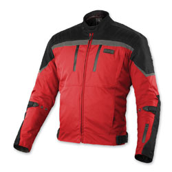 MotoCentric Men's Force Red/Black Jacket