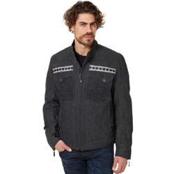 Roland Sands Design Apparel Faster Sons Tracker Black Leather Jacket