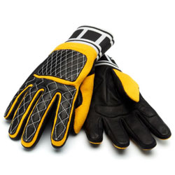 Roland Sands Design Apparel Faster Sons Men's Peristyle Black/Yellow Gloves