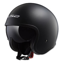 LS2 Spitfire Matte Black Open Face Helmet
