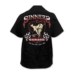 Lethal Threat Men's Sinners Garage Black Work Shirt