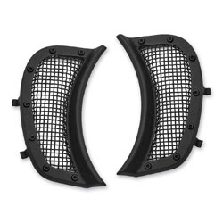 Kuryakyn Mesh Headlight Vent Accents Satin Black