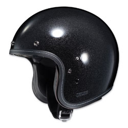 HJC IS-5 Metal Flake Black Open Face Helmet