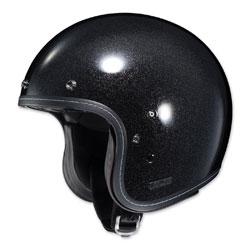 HJC IS-5 Metal Flake Black Open Face Helmet