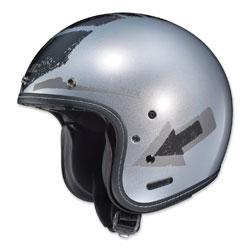 HJC IS-5 Arrow Silver Open Face Helmet