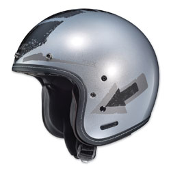 HJC IS-5 Arrow Silver Open Face Helmet