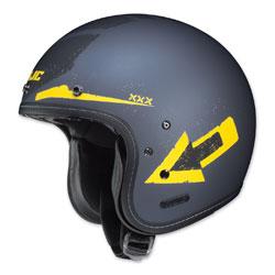 HJC IS-5 Arrow Matte Blue/Yellow Open Face Helmet