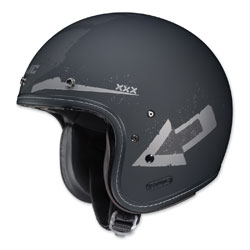 HJC IS-5 Arrow Matte Gray/Silver Open Face Helmet