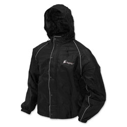 Frogg Toggs Men's Road Toad Black Rain Jacket