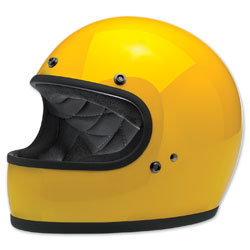 Biltwell Inc. Gringo Safe-T Yellow Full Face Helmet