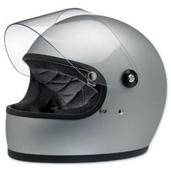 Biltwell Inc. Gringo S Flat Silver Full Face Helmet