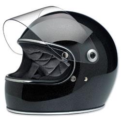 Biltwell Inc. Gringo S Midnight Black Miniflake Full Face Helmet