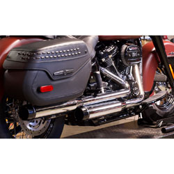Rinehart Racing 3.5″ Slip On Muffler Chrome with Black End Cap